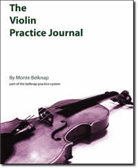 violin journal cover